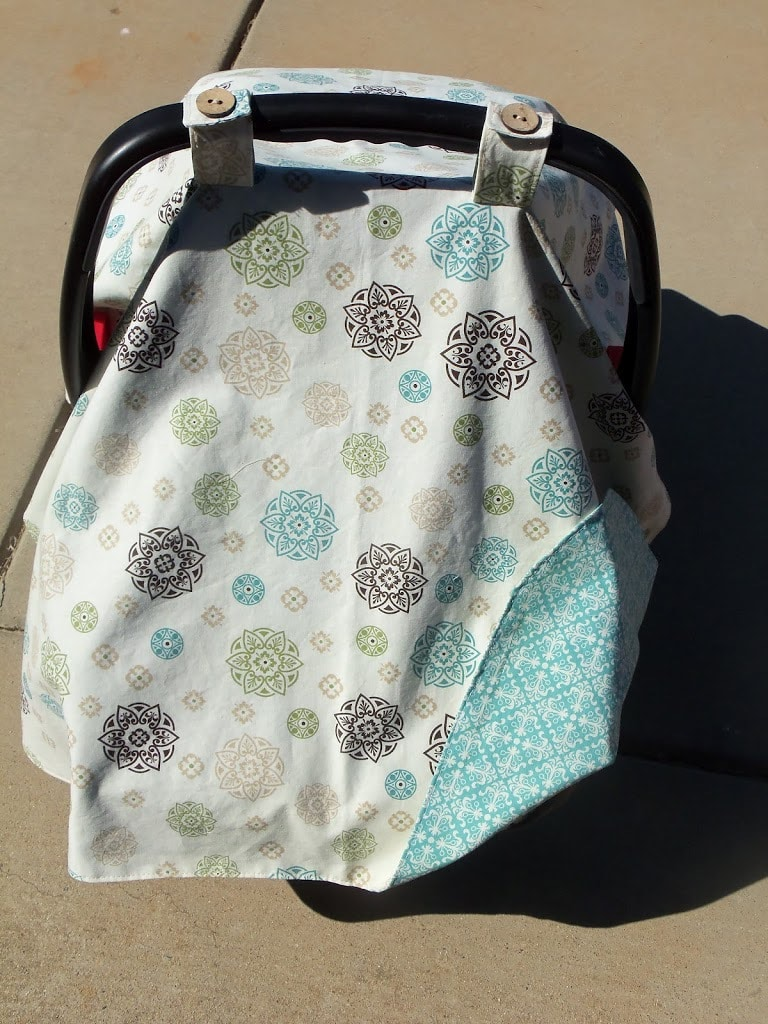 Car seat canopy cutesy crafts car seat canopy jeuxipadfo Choice Image & Baby Car Seat Cover Sewing Pattern Choice Image - Craft Decoration ...