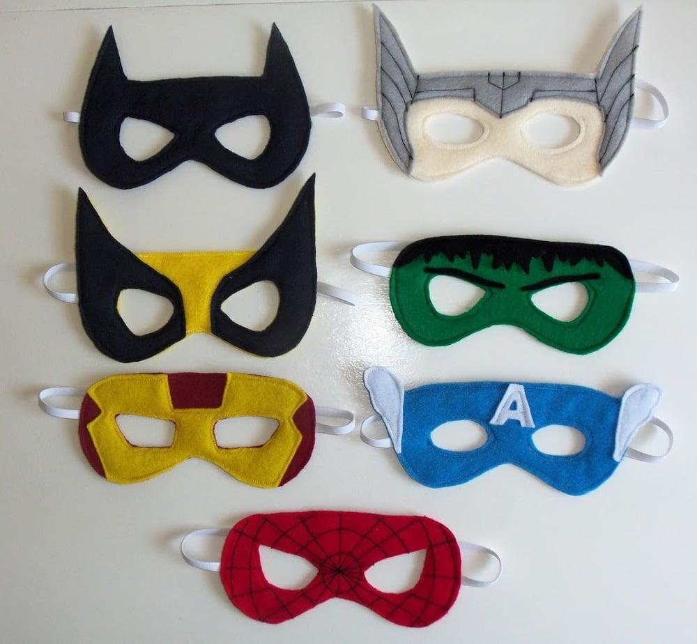 Felt Superhero Mask Templates - Cutesy Crafts