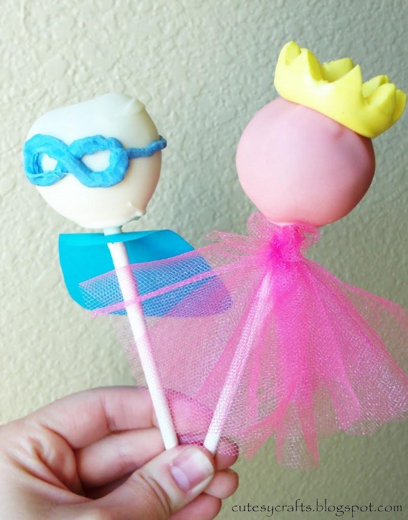 Superhero and Princess Cake Pops - Cutesy Crafts