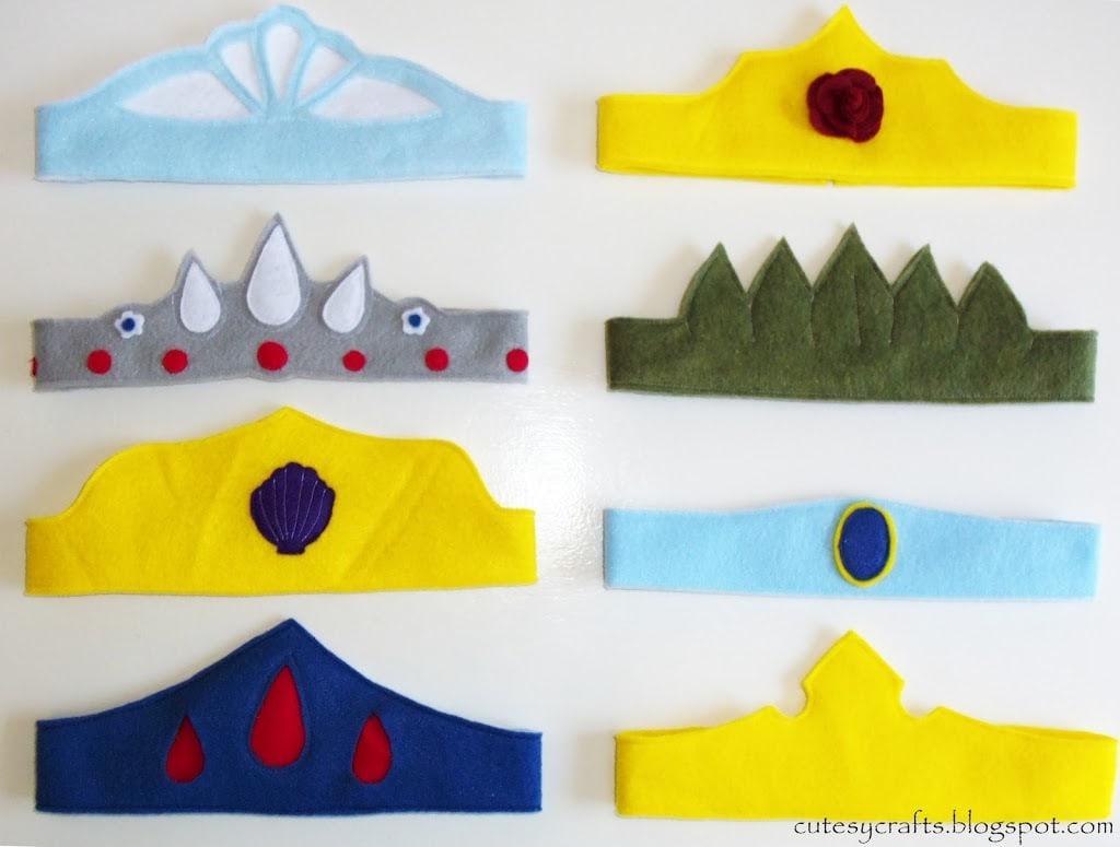 d4c2efeaad7 Felt Princess Crowns - Cutesy Crafts