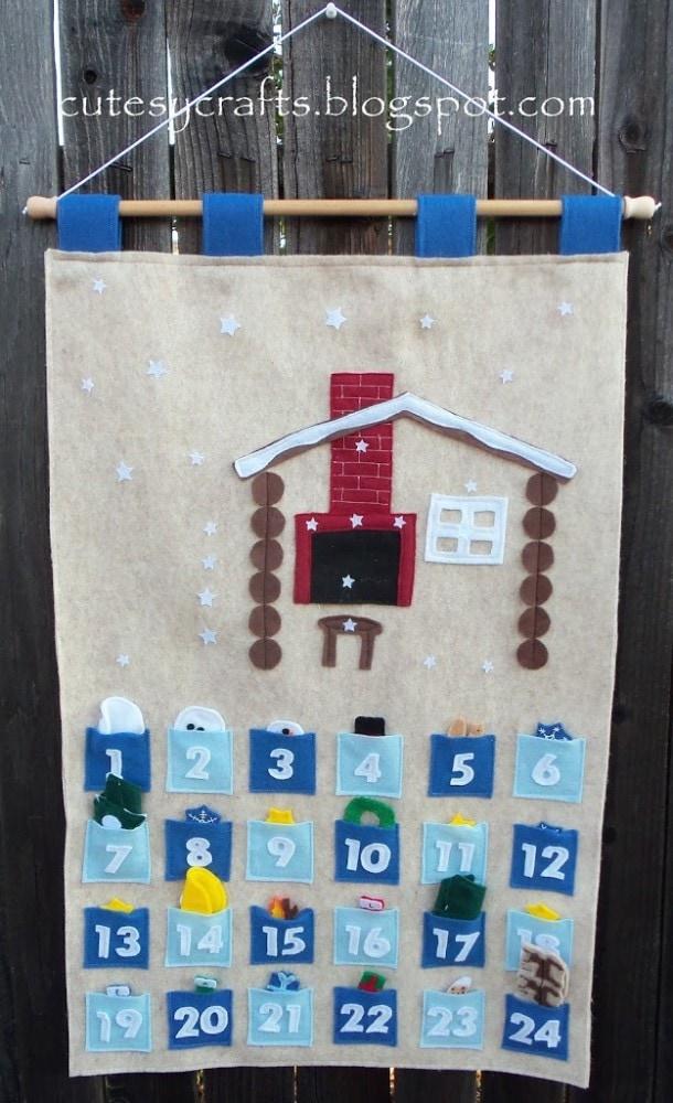 Felt Christmas Countdown Calendar