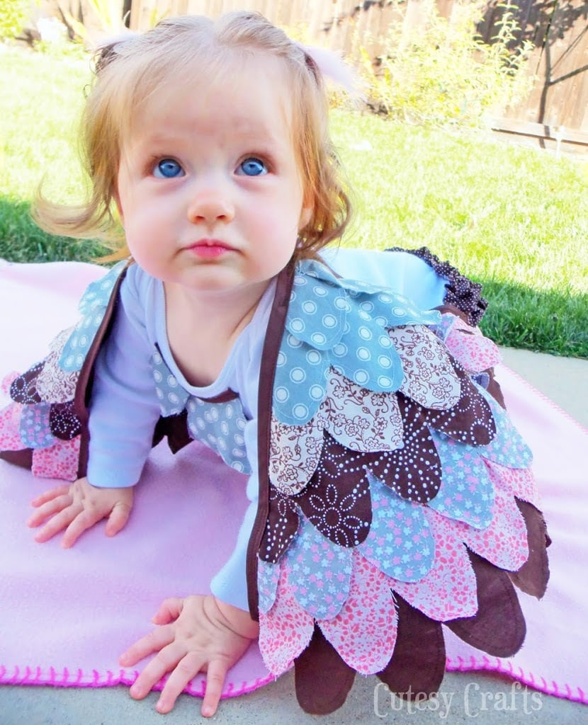 DIY Baby Owl Costume Tutorial - Comfortable and adorable!  sc 1 st  Cutesy Crafts : owl costume baby  - Germanpascual.Com