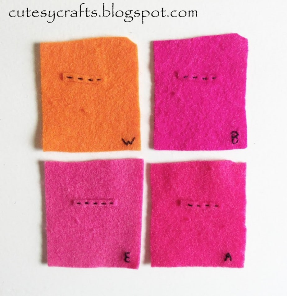 Comparison of different types of felt from Cutesy Crafts.