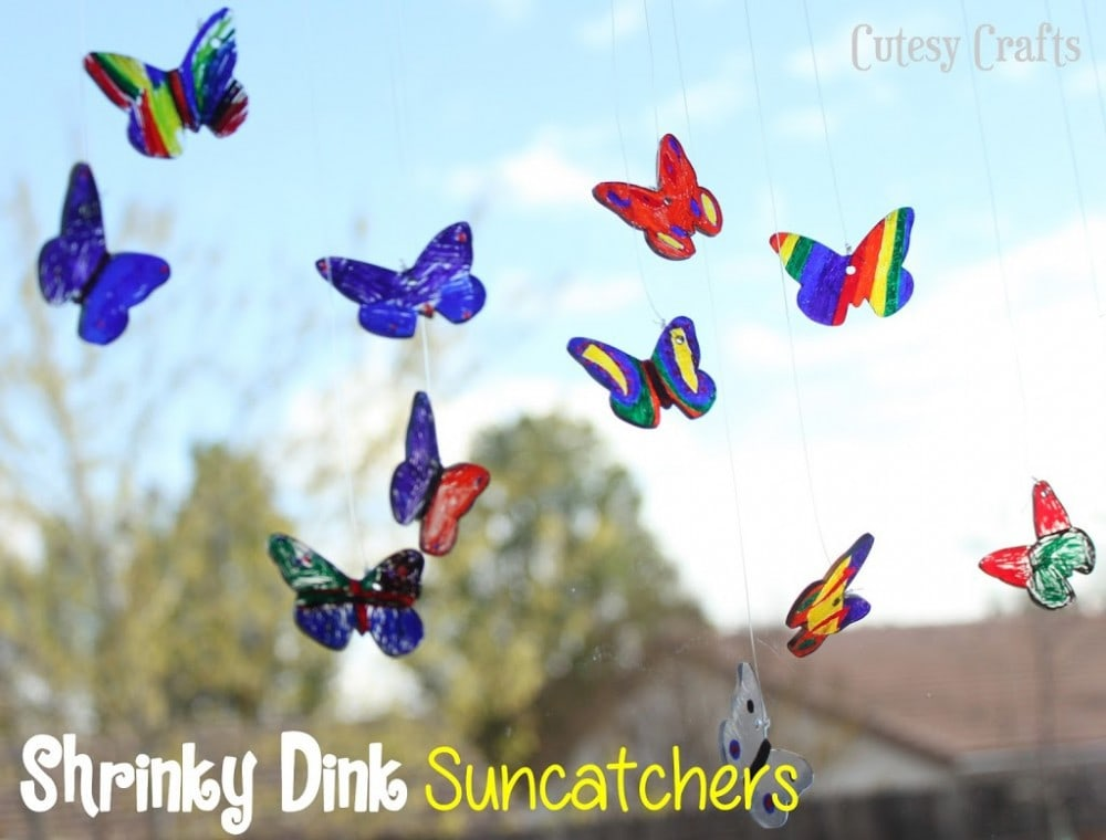 Butterfly Craft Idea - Shrinky Dink Suncatchers