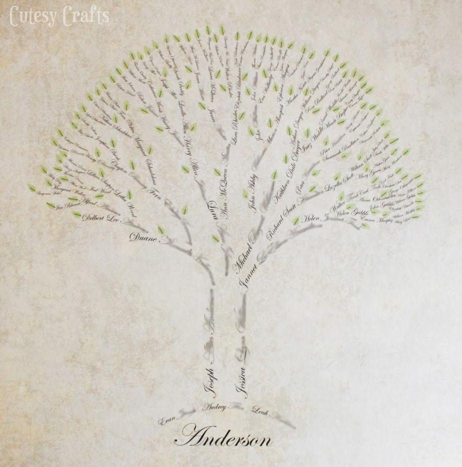 family tree art