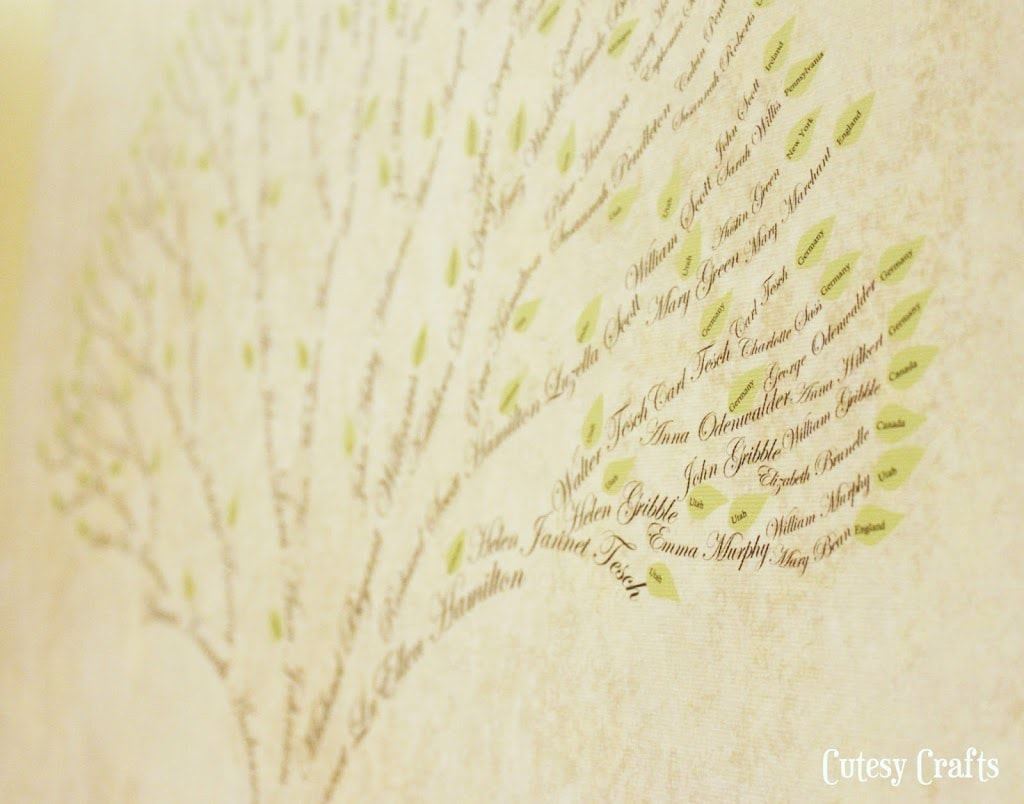 Family Tree Art Tutorial Cutesy Crafts