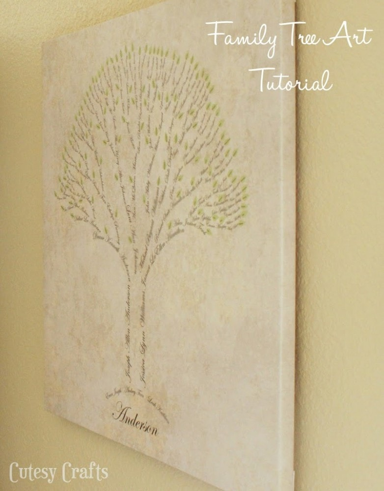Family Tree Art Tutorial