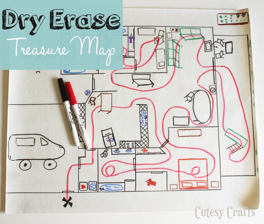 Dry Erase Treasure Map Cutesy Crafts