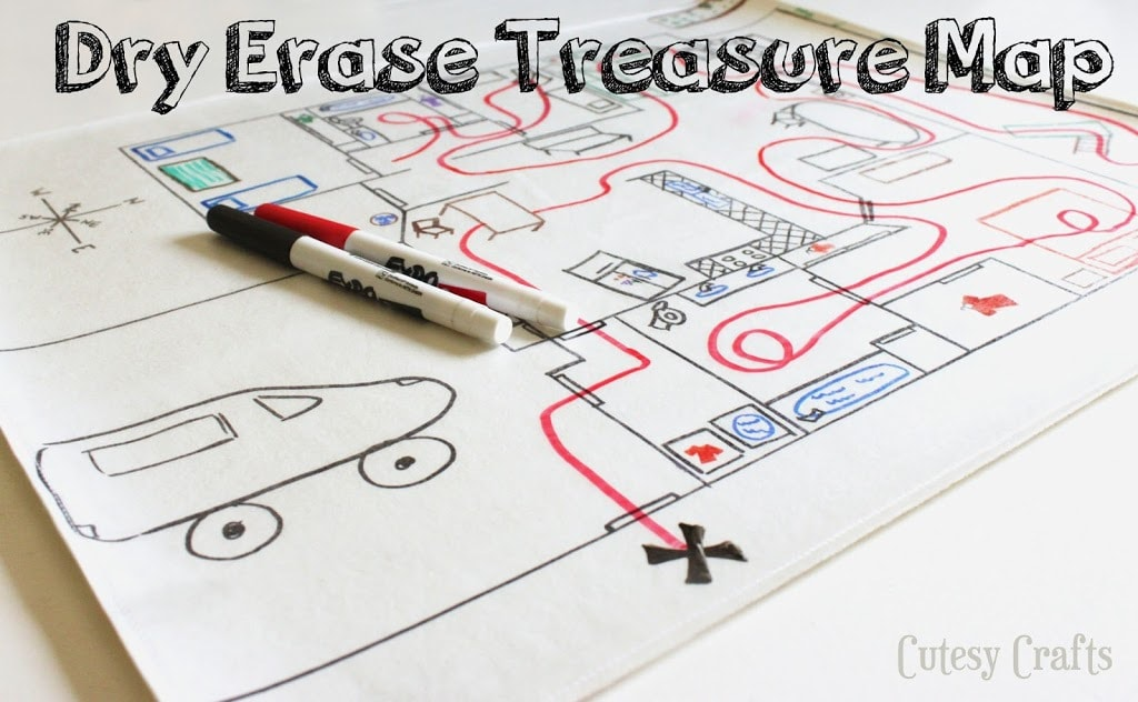 how to draw a treasure map for kids