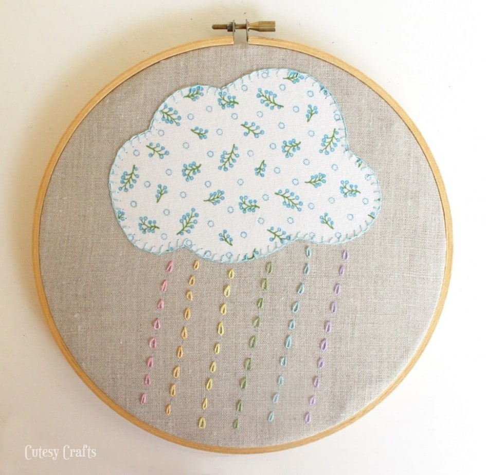 Free Embroidery Hoop Art Patterns - cloud