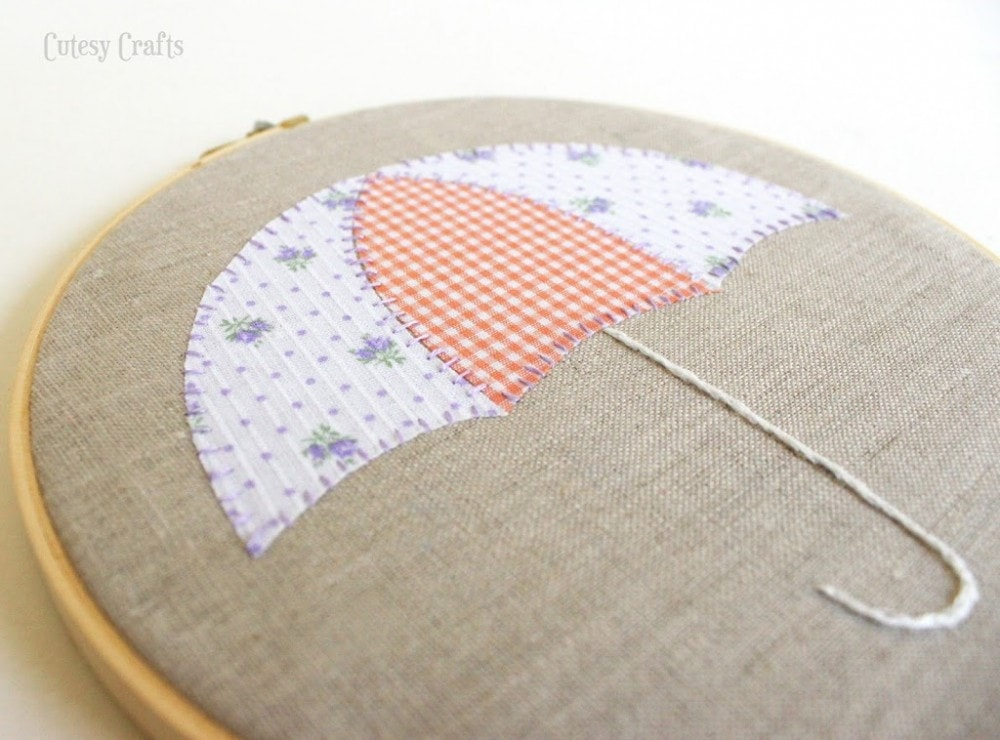 Free Embroidery Hoop Art Patterns - umbrella