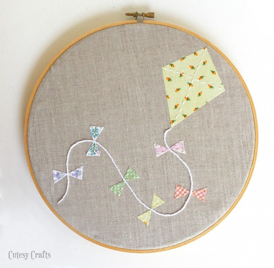 Free Embroidery Hoop Art Patterns - kite