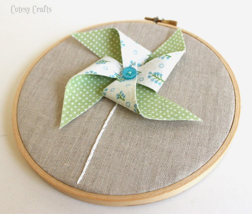 Free Embroidery Hoop Art Patterns - pinwheel
