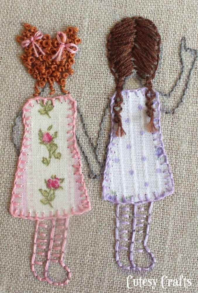 hand embroidered little girls
