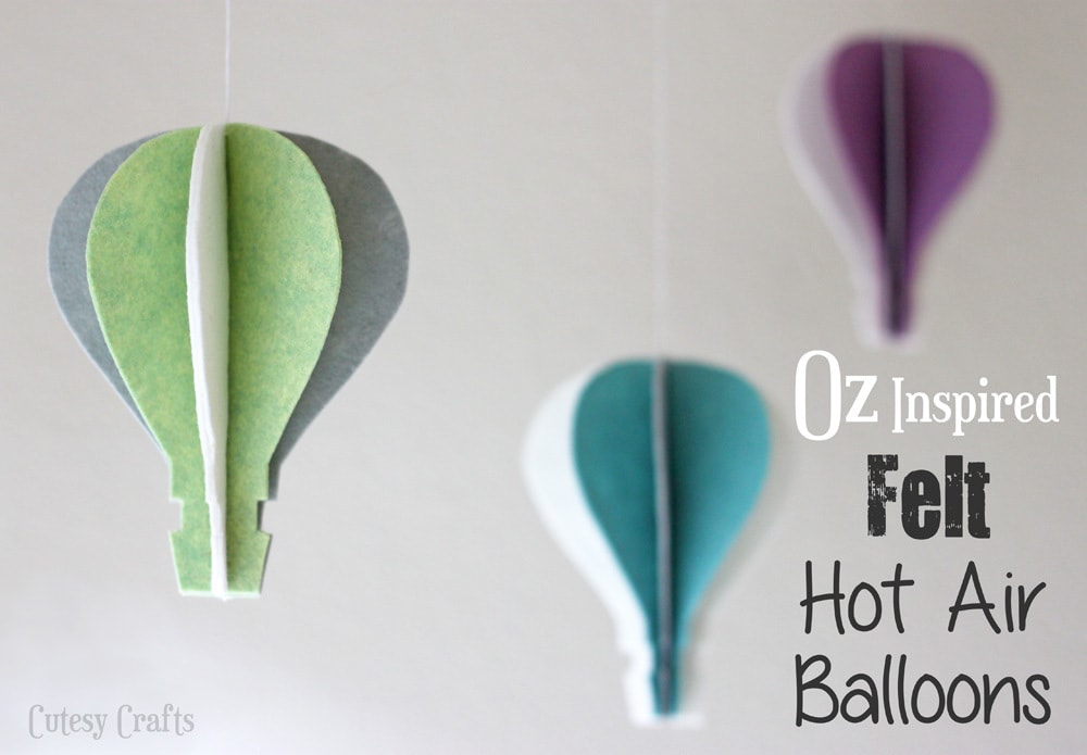 Felt Hot Air Balloon Craft