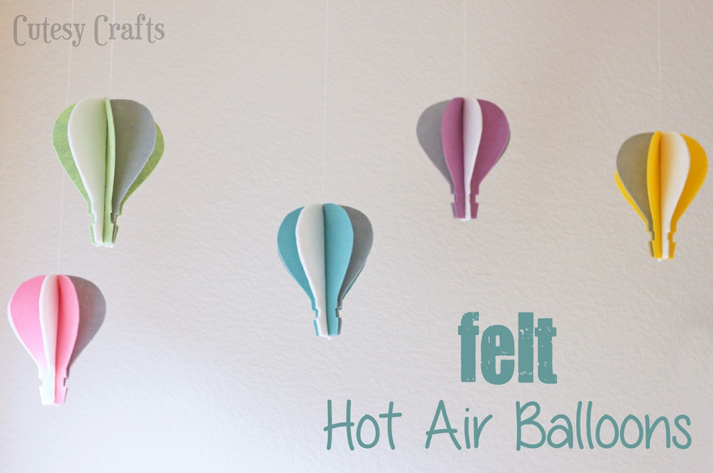 Oz Inspired Felt Hot Air Balloon Craft - Cutesy Crafts