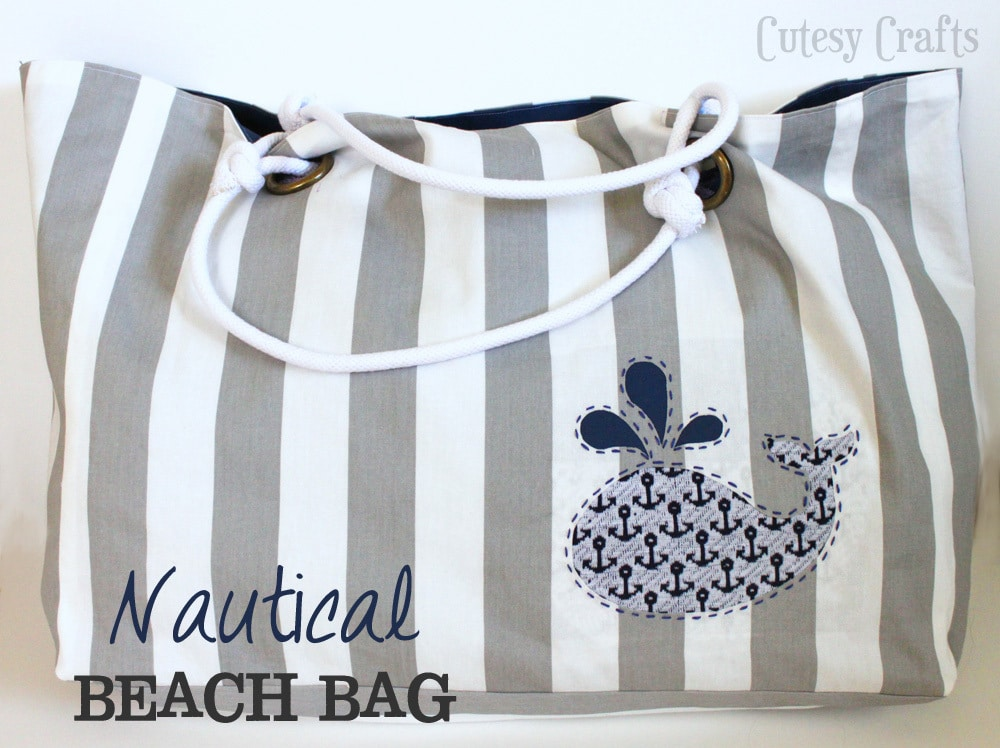 Nautical beach bag cutesy crafts