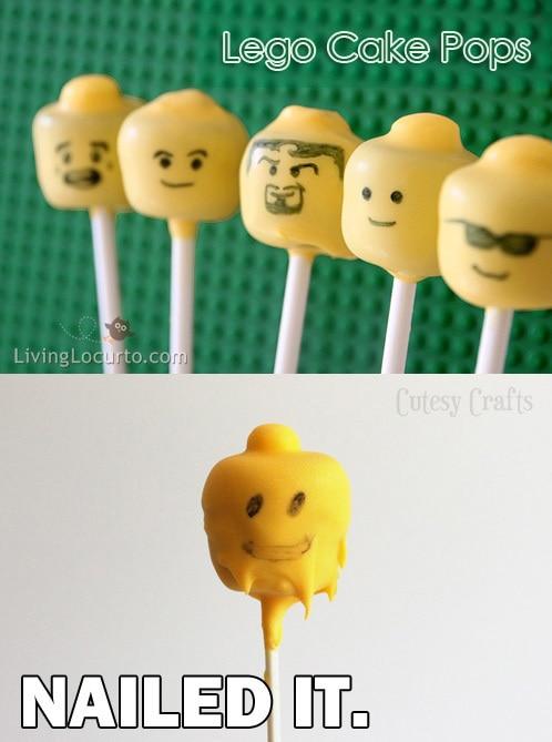 Lego Cake Pops Fail