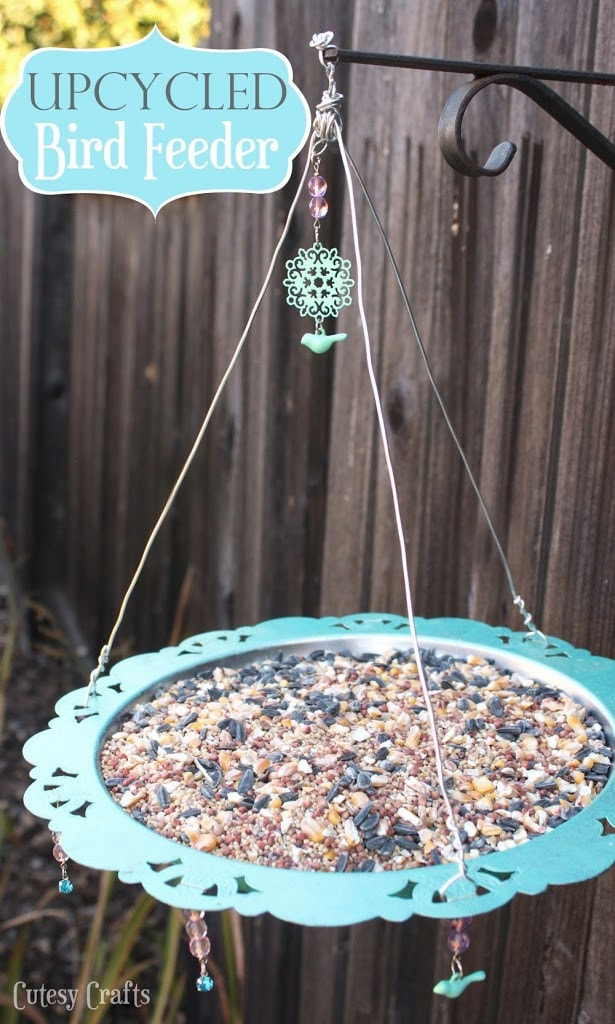 Upcycled Bird Feeder - Cutesy Crafts