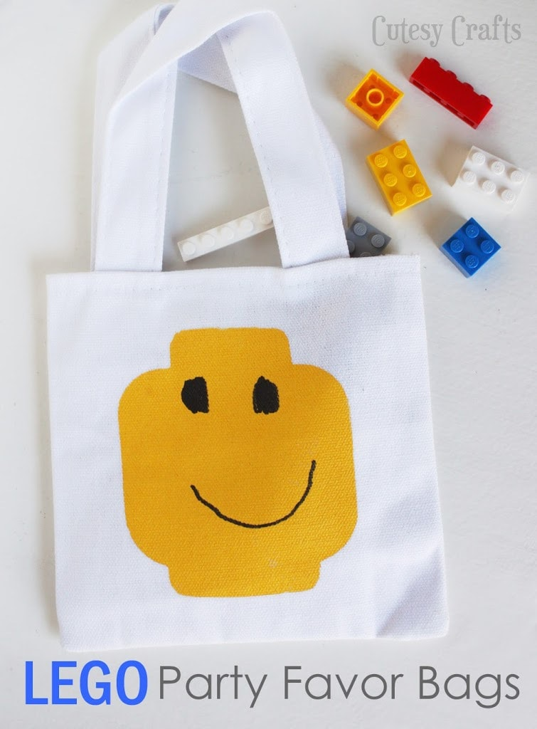 Lego Party Favor Bags - Cutesy Crafts