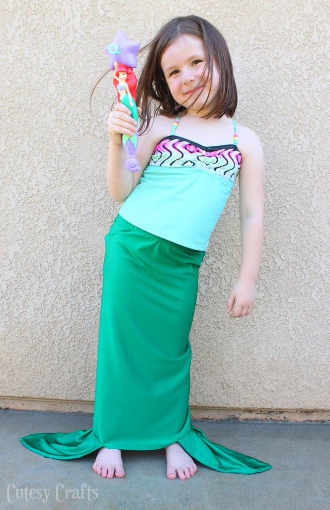 Free Mermaid Tail Sewing Pattern Cutesy Crafts