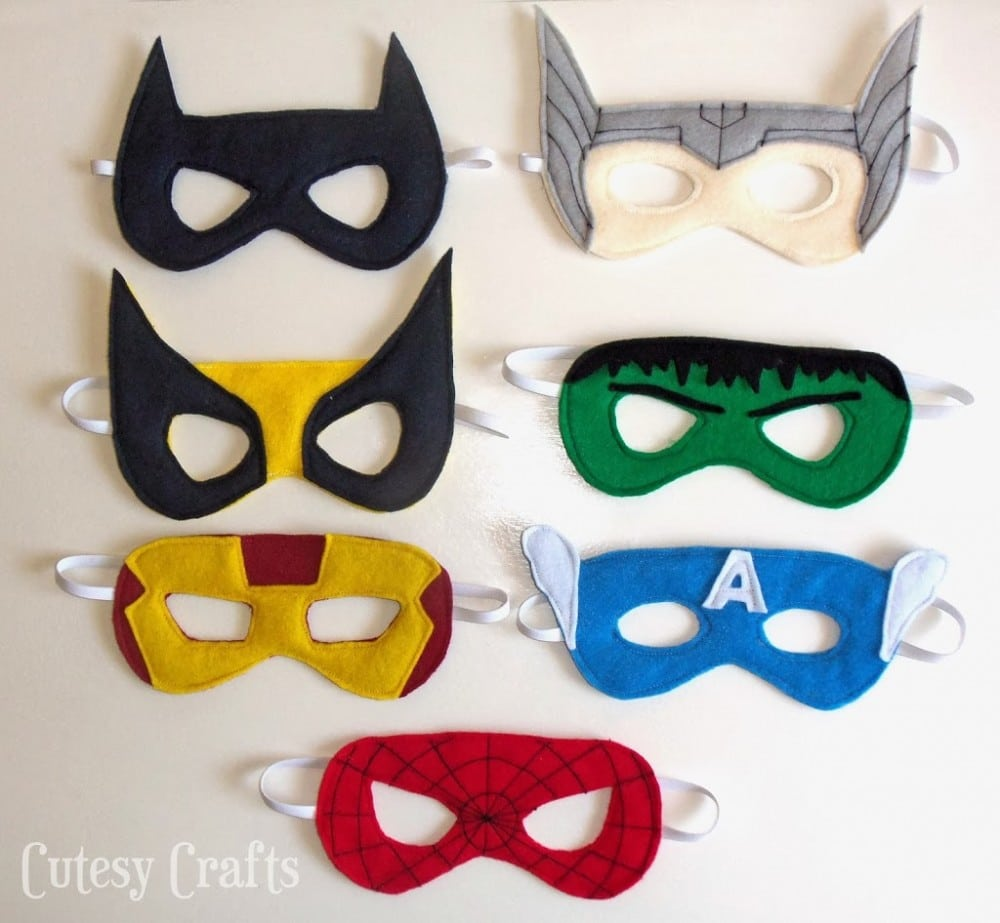 Adult Superhero Mask Patterns