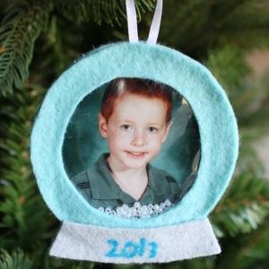 Felt School Picture Ornament