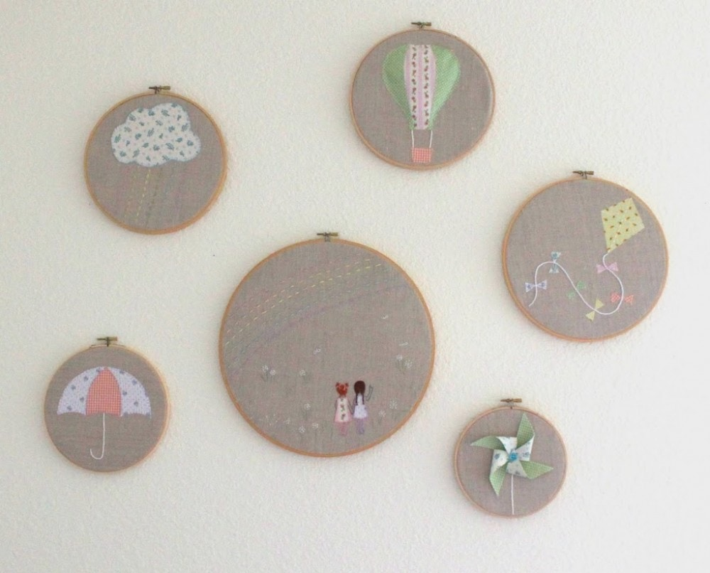 Embroidery Hoop Art with Free Patterns