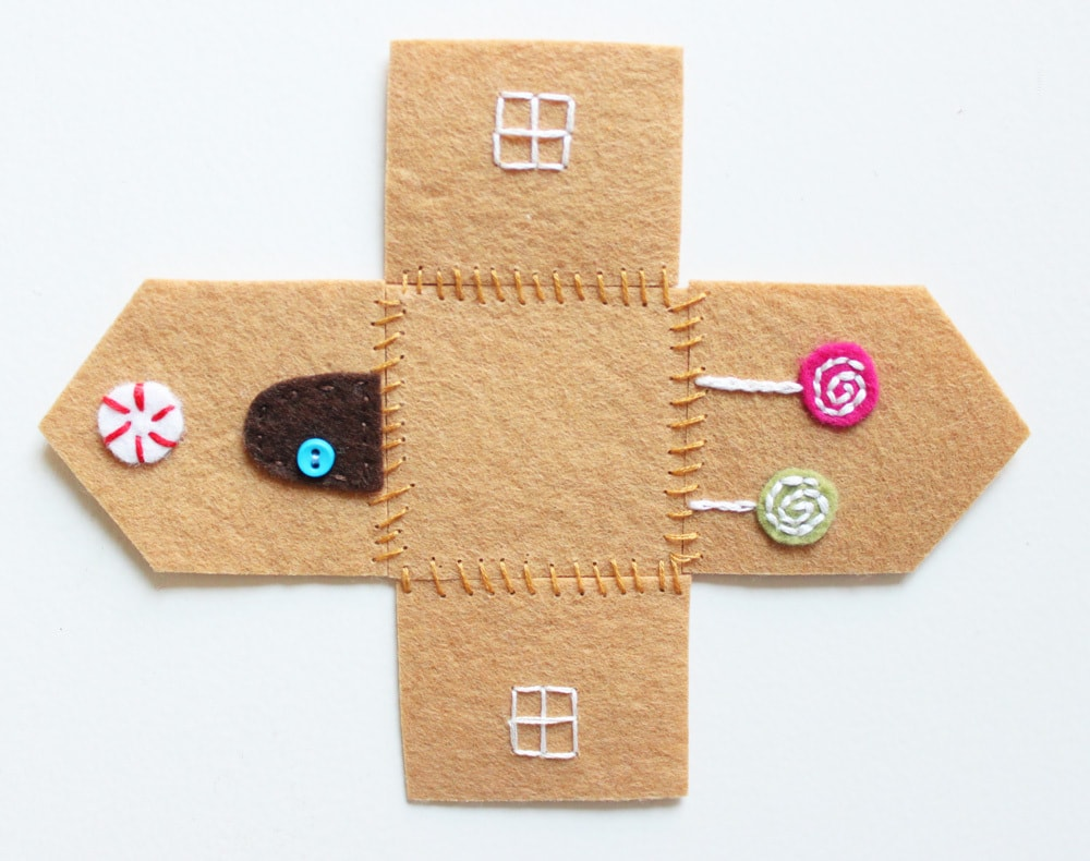 Felt Gingerbread House Ornament Cutesy Crafts