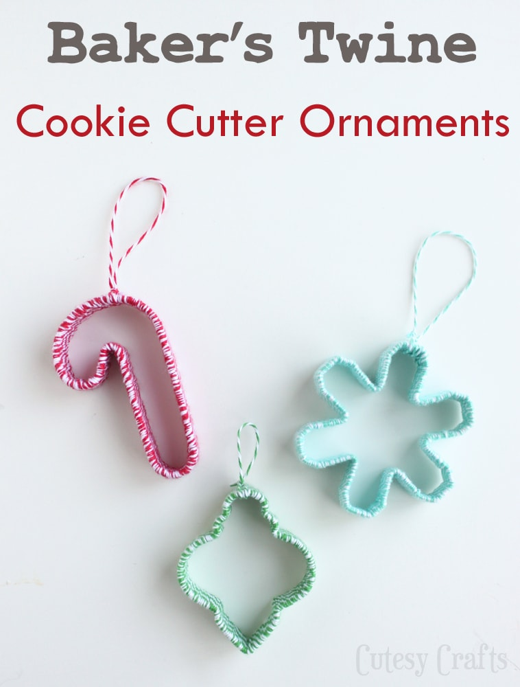 Baker's Twine Cookie Cutter Ornaments