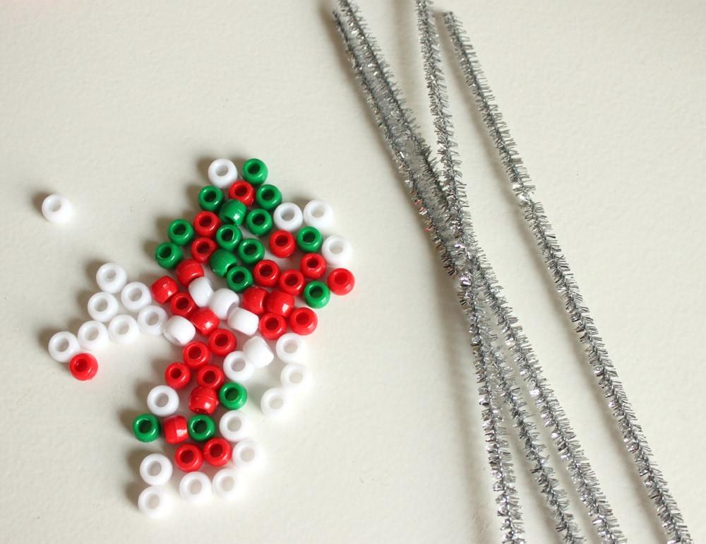 Pony Bead Christmas Ornaments - Cutesy Crafts