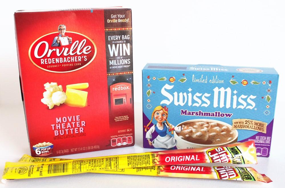 Hot Chocolate And Popcorn Movie Night Gift Basket Cutesy Crafts