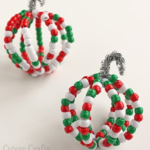 Pony Bead Christmas Ornaments