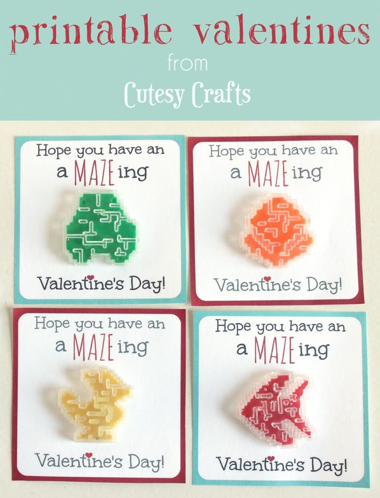 picture about Printable Valentines Crafts identify Maze Valentine Printables - Cutesy Crafts