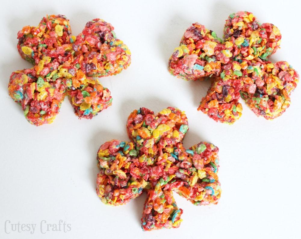 Fruity Pebbles St. Patrick's Day Treats