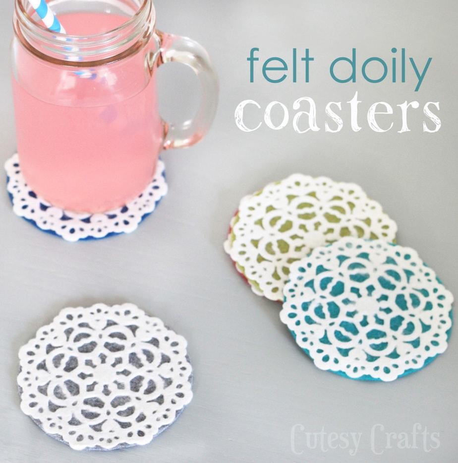 http://www.cutesycrafts.com/2014/05/felt-doily-coasters.html
