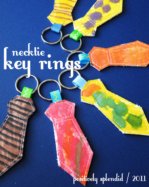 Necktie Key Rings