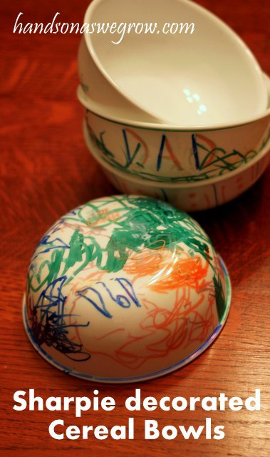 Sharpie Decorated Bowls