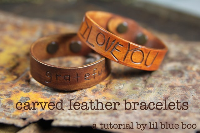 Carved Leather Bracelets