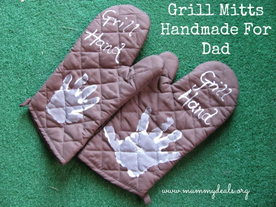 Grill Mitts Homemade For Dad