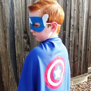 Appliqued Superhero Capes