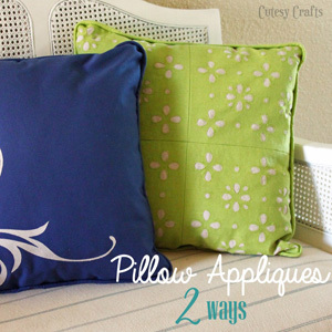 Appliqued Throw Pillows