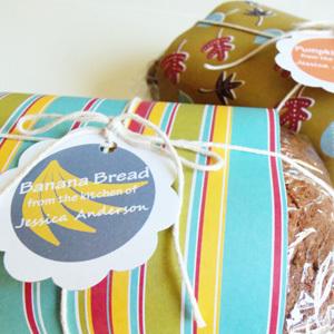 Pumpkin and Banana Bread Labels