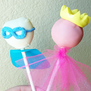 Superhero and Princess Cake Pops