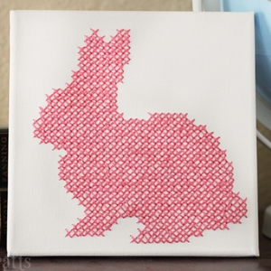 Cross-Stitch Bunny Canvas