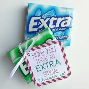 Extra Gum Printable Gift Tags