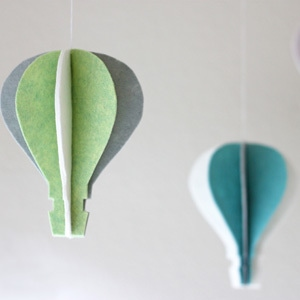 Oz Inspired Felt Hot Air Balloon Craft