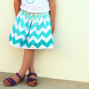 Painted Flour Sack Towel Skirt