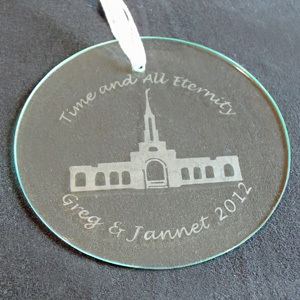 Glass Etched Ornament