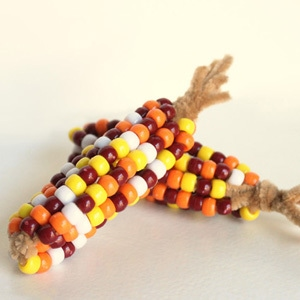 Thanksgiving Craft: Pony Bead Indian Corn